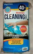 "40 myride Microfibre Ultra Plush Microfiber Towel 14"" x 14"" BLUE FACTORY SEALED"