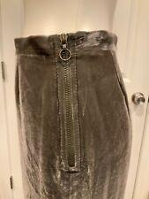 Missoni Gray Velvet Double Zipper Pencil Skirt, Size 2 (US) 38 (IT)