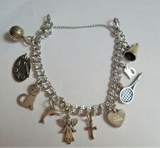 Vtg James Avery Sterling Silver Bracelet With Retired Sterling Silver Charms