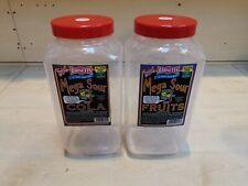 2 x Used Large Plastic Sweet / Fish Bait / Storage Jar - Needs Washing