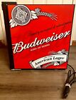 Collectible Rare Promotional BUDWEISER Game Day Mini Refrigerator - Works Great!
