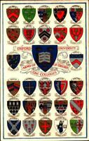 ANTIQUE POSTCARD-  OXFORD UNIVERSITY- ARMS OF THE COLLEGES OF OXFORD BK20