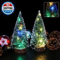 Mini Christmas Tree With LED Light Small Pine Tree Table Xmas Decor DIY Gifts AU