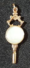 9 carat solid gold & agate vintage Victorian antique watch key