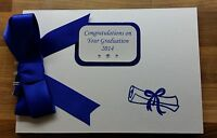 Personalised Graduation Scroll Design Photo Album  / Memory Book or Scrapbook