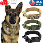 Tactical~Military K9 Dog Collar For LARGE Dog With Metal Buckle Heavy^Duty