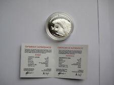 "20 Rubel Silbermünze Weissrussland / Belarus 2011 "" Igel / Hedgehog ""  PP /Proof"