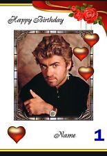 Free P/P George Michael tarjeta (selección para elegir) - Personalizado-A5