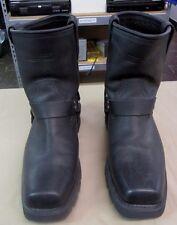 Men's X element Biker Motorcycle Boots Size 10.5 Leather Short Harness LU1436