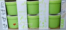 Apple Green Set Of 6 Porcelain Mini Ramekin Dishes by Home Essentials NEW IN BOX