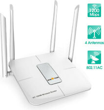 WISE TIGER WiFi Router AC1200Mbps Repeater Long Range Dual Band 2.4G/5Ghz