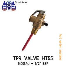"TPR VALVE HT55 - 1400KPA -1/2"" BSP - SUITS ALL MAJOR BRANDS - ORIGINAL RMC VALVE"