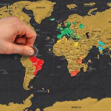 Mapa Del Mundo  Guía de Viaje Edición Scratch OffPóster Personalizado Diario