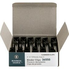 """Business Source Binder Clips, Small - 0.8"""" x .38"""", 1dzn. Clips (BSN36550)"""