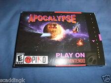 Super Nintendo SNES Game Apocalypse II 2 Piko Interactive New Pal Version