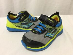Saucony  Baby Volt Athletic Boys Shoes, Size 7M UK 6 Eur 23 Gray/Green..SY-L4B