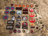 Rare Vintage Star Wars Lot 28 x Patches And 28 x Pins Empire Strikes Back ROTJ