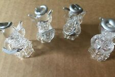 4 x glass ornate decorative miniature musical  angels