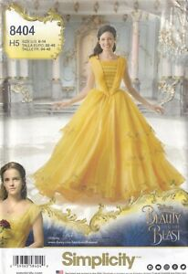 Simplicity Sewing Pattern 8404 Beauty & the Beast Belle Costume, Size 6-14  New