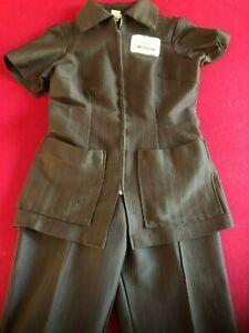 1968, McDonald's, Ladies Employee (Brown) Uniform Top & Pants (Scarce / Vintage)