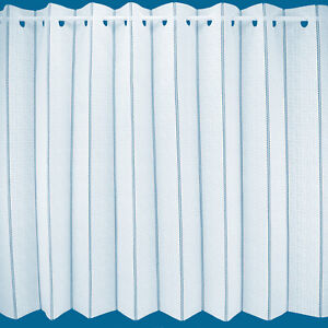 """CLEARANCE  """"Paris White"""" Plain Lace Vertical Pleated Blind Panel - Free Postage"""