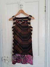 Custo Barcelona multicolore automne/hiver style vintage Mini robe-Taille 8