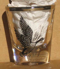 Canada Goose shot glass new vintage collectible bird audubon hunting