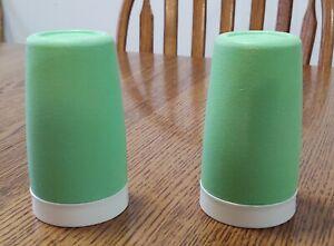 Set of 2 Bolero Therm-O-Ware Retro Green Plastic Tumblers