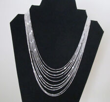 Multi Strand Necklace Silver Tone Chain by Avon Lobster Clasp Signed Vintage