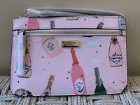 Kate Spade Shore Street Champagne Tinie Wristlet Wallet Pink Pop Fizz Clink Bag