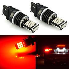 JDM ASTAR 2x 3157 3156 Red 21-SMD LED Turn Signal Brake Tail Stop Light Bulbs