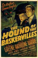The Hound of the Baskervilles OLD MOVIE POSTER Canvas Box/ Photo/ Art Print