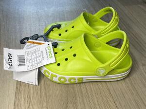 Childrens Kids Crocs Bayaband Lime Punch Clog Size C10