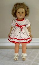 "VINTAGE SHIRLEY TEMPLE IDEAL DOLL-17""- COMPOSITION-STAMPED-SLEEP EYES-1930S"
