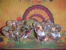 PAIR HEAVY STAR SHAPE CANDLE HOLDERS  325
