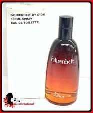 Fahrenheit By Christian Dior 3.4oz Eau De Toilette Spray Men TST White box