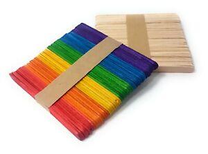 Wooden Lollipop Sticks Plant Labels Lolly Pop Kids Arts Crafts Mixed Plain Pack