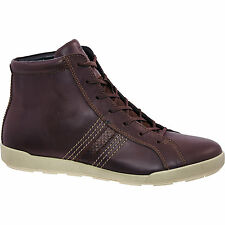 £120 ECCO Brown Smooth Material Hi-Top Sneakers 100% genuine size UK7/eu 40