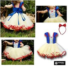 Biancaneve Vestito Carnevale Dress up Princess Snow White Girl Costume SNOW008