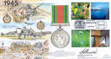 Jsmil 18 2000 1945 MILLENNIUM DIFESA MEDAGLIA SECONDA GUERRA MONDIALE FDC FIRMATO BRIGADIERE felicissimo
