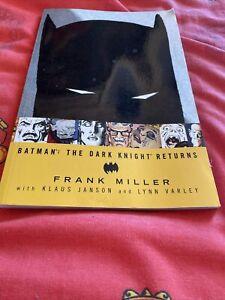 Batman The Dark Knight Returns Book Frank Miller