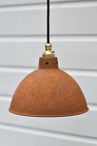 Rusty barn pendant light industrial style workshop hanging ceiling lamp R6G3