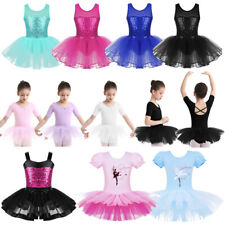 Children Girls Ballet Dance Dress Kid Leotard Tutu Skirt Ballerina Fairy Costume