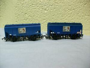 Grain Hopper Wagon 5833 'Johnnie Walker' x 2 Hornby R.648 '00' Light Use 1971-73