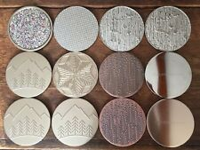BATH & BODY WORKS 3 Wick Candle Lid Lot Glitter Lid Christmas Holiday Snow 12 Ct
