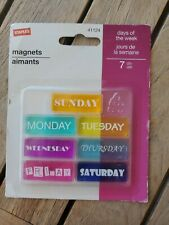 Days of the Week Staples Vintage Magnets New