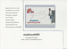 Wayne Van Dorp Quebec Nordiques AUTOGRAPH AUTO INDEX HOCKEY CARD 100% COA