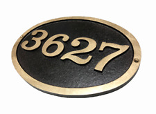 Custom Address Plaque FREE SHIPPING! Traditional Large Oval Bold Font Brass