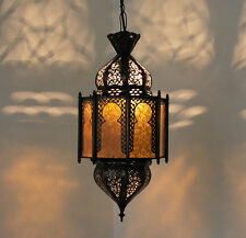 "Orientale Lanterna Marocco Lampada Luce A Sospensione Oriente ""Lafna2_Amber"""