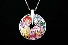 NWT Brighton Africa Stories Floral Multi-colored Enamel Pendent Necklace $88